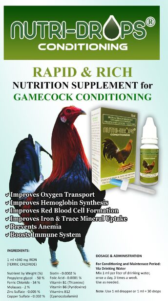 Insta Supplement Magazine: Gamecock Nutri-Drops Insta-Iron 34%